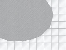 Vector background - tiled wall with a large hole Royalty Free Stock Image