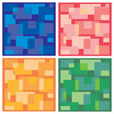 Vector background, tiles in four colors Stock Photography