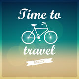 Vector background. Time to travel. Stock Image