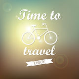 Vector background. Time to travel. Royalty Free Stock Photos