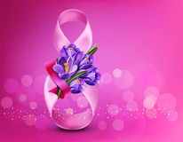 Vector background to the 8th of March Women`s Day. Template  Royalty Free Stock Photography