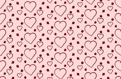 Vector background to Valentine& x27;s Day with hearts Stock Images