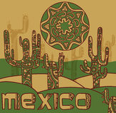 Vector background with traditional mexican ornament Stock Photos
