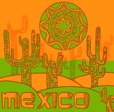 Vector background with traditional mexican ornament Royalty Free Stock Image