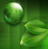 Vector background with transparent green ball-glob Stock Photos