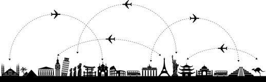 Vector  Background Travel Stock Photos