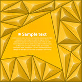 Vector background with triangles. Yellow Stock Photo