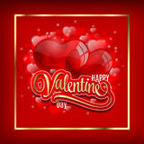 Vector background with two balloons hearts. Happy Valentine's day. Easy to edit. Perfect for invitations or announcements. Vector background with two balloons Stock Images