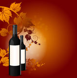 Vector background with two bottles in the foreground Stock Image