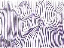 Vector background ultra violet lines leaves. Line shapes royalty free illustration