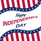 Vector background for US Independence Day. Stock Photo