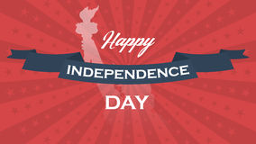 Vector background for US Independence Day. Stock Image