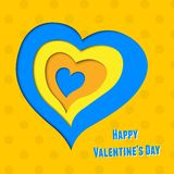Vector background on Valentine's Day with layered Stock Photos