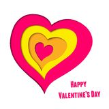 Vector background on Valentine's Day with layered Royalty Free Stock Image