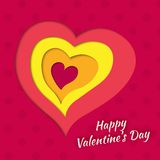 Vector background on Valentine's Day with layered Royalty Free Stock Photo