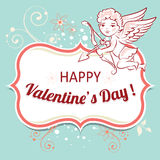 Vector background for Valentines Day. Royalty Free Stock Photography