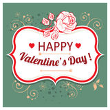 Vector background for Valentines Day. Royalty Free Stock Photo