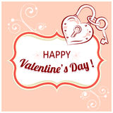 Vector background for Valentines Day. Stock Image
