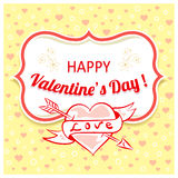 Vector background for Valentines Day. Royalty Free Stock Image