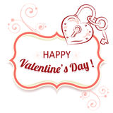 Vector background for Valentines Day. Stock Photos