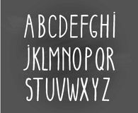 Vector background vector alphabet. letters written by hand on a gray background Royalty Free Stock Photo