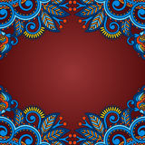 Vector background with vintage pattern. Royalty Free Stock Photography