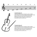 Vector background violin the arts Royalty Free Stock Images