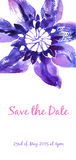 Vector background with watercolor clematis for wedding invitation Royalty Free Stock Photography