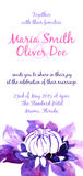 Vector background with watercolor clematis for wedding invitation Royalty Free Stock Image