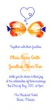 Vector background with watercolor discus fish for wedding invitation Stock Photo