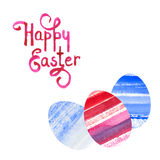 Vector background with watercolor eggs Stock Images