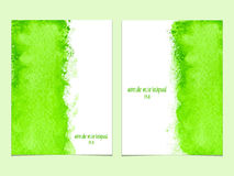Vector background with watercolor green. Royalty Free Stock Photos