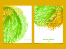 Vector background with watercolor green and yellow. Royalty Free Stock Photos