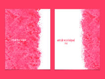 Vector background with watercolor pink. Stock Image