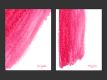 Vector background with watercolor pink. Stock Photography