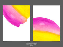 Vector background with watercolor pink and yellow. Stock Photos
