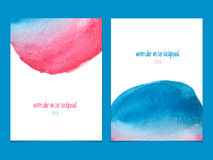 Vector background with watercolor  red and blue. Royalty Free Stock Photography