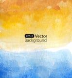 Vector background of watercolor seascape. Watercolor vector illustration Stock Photo