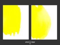 Vector background with watercolor yellow. Stock Images