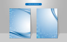 Vector background wave and rectangle pattern cover design Royalty Free Stock Photos