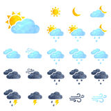 Vector background with weather icons  on white Royalty Free Stock Image
