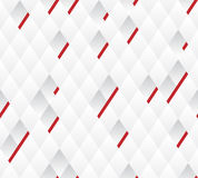 Vector background, white and gray geometric pattern width red lines. Stock Image