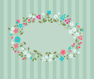 Floral greeting card. Royalty Free Stock Images