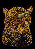 Vector background with wild leopard Royalty Free Stock Photography