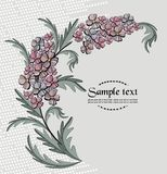 Vector background with wild meadow flowers Stock Photography