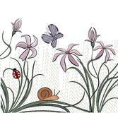 Vector background with wild meadow flowers Royalty Free Stock Images