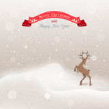 Vector background winter Christmas landscape with Stock Photography