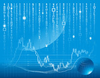Free Vector Background With Forex Chart Royalty Free Stock Photography - 10152047