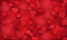 Vector Background With Hearts Stock Image