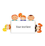 Vector Background With Kids Stock Photos